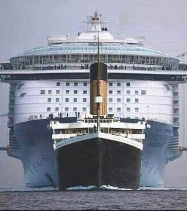 tamaño de los barcos en la historia