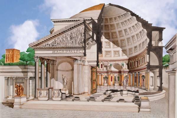 construcción Panteón de Roma