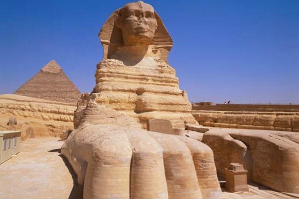construcción gran esfinge egipto