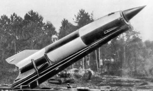 Lanzamiento de cohete V-2 Alemán