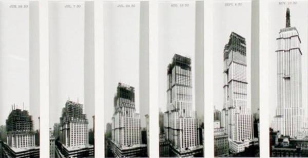 en cuánto tiempo se construyó el Empire State