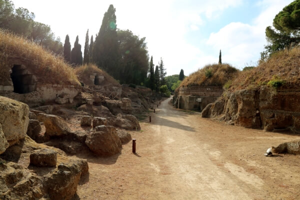 quién construyó la necrópolis de Banditaccia