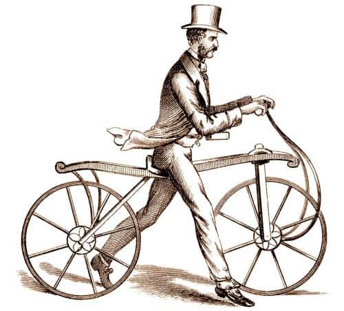 bicicleta caballo de madera