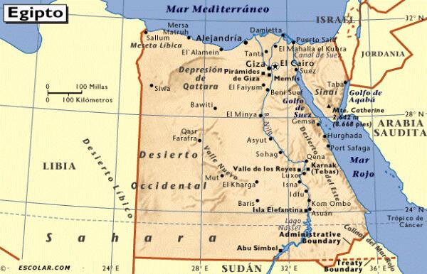 dónde está Egipto