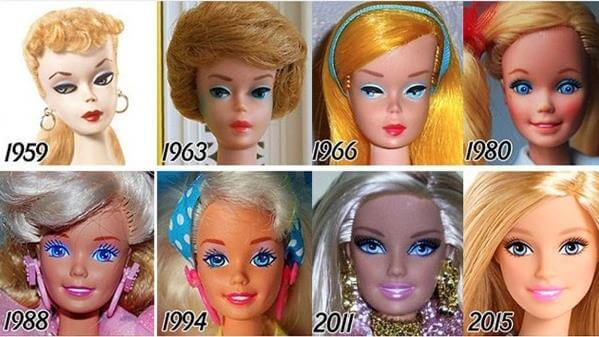 cuántos modelos de Barbie hay