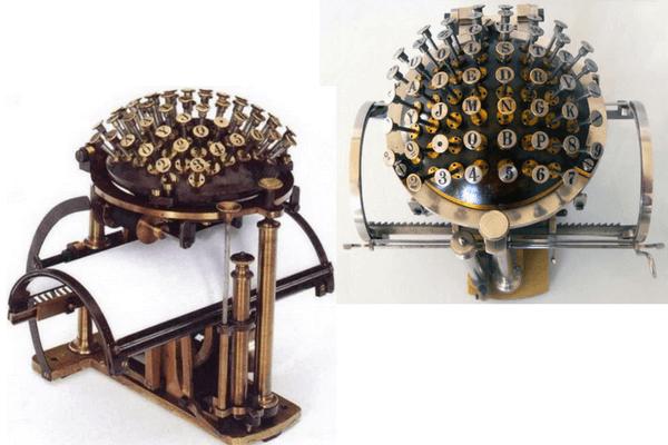 mejoras de la máquina de escribir en la historia