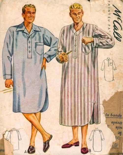 historia camisón masculino