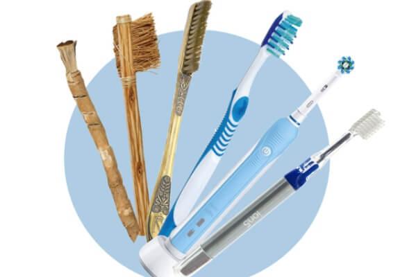 cómo es la evolución del cepillo de dientes