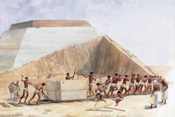 cómo se construyó la gran pirámide