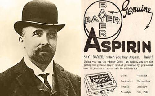 quién inventó la aspirina