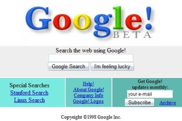 origen e historia de Google