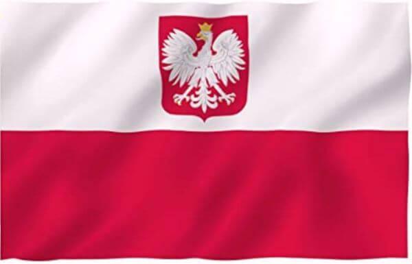 cuándo se creó la bandera polaca