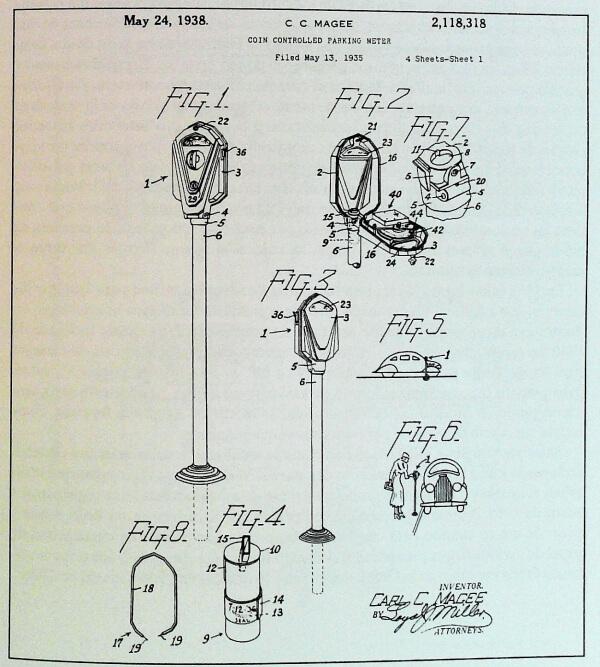 primera patente del parquímetro