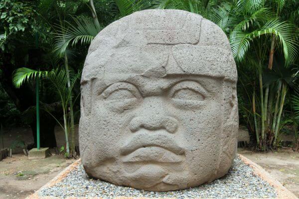 cabezas olmecas de México