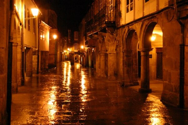 Ruas de Santiago de Compostela Historia