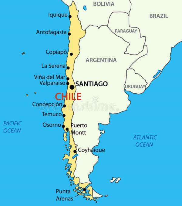 mapa de Chile orgien