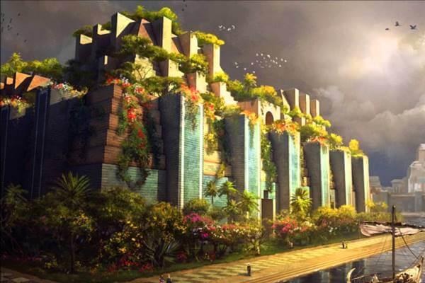 cómo eran los jardines colgantes de Babilonia