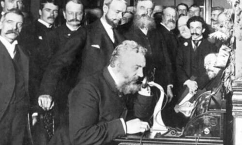 presentación teléfono de Graham Bell
