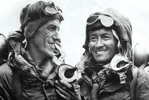 quién fue el primero en alcanzar el Everest