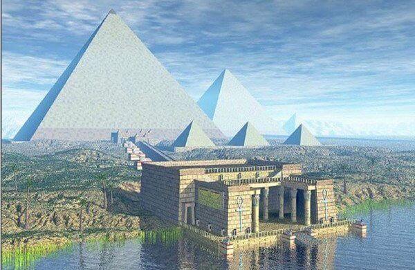 historia de las pirámides de giza