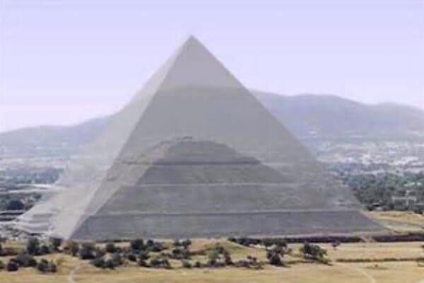 pirámide del sol teotihuacán dibujo