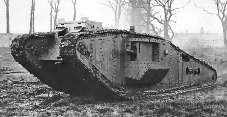 cuál es el primer tanque que entró en combate
