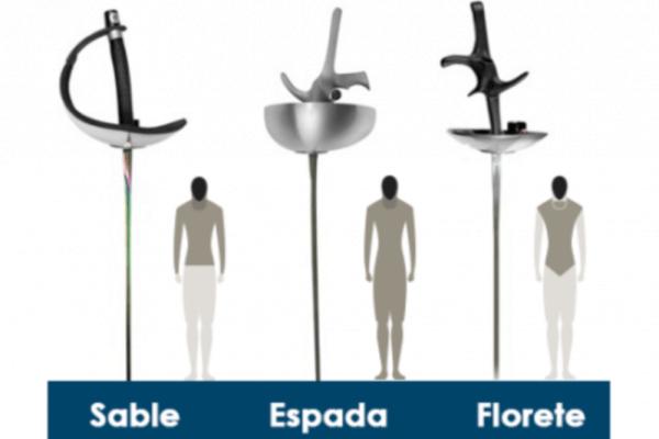 qué armas se emplean en la esgrima