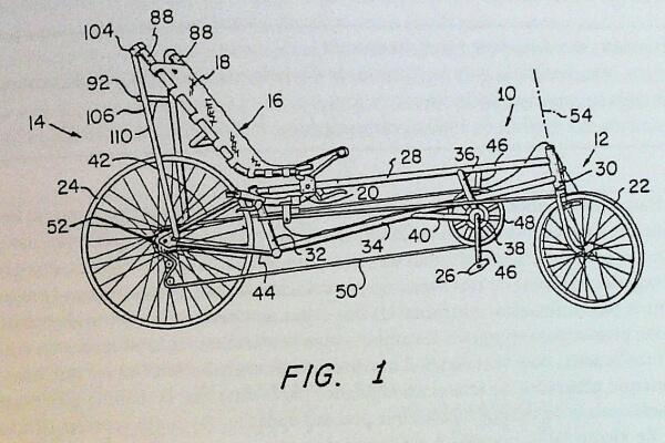 quién inventó la bicicleta recostada