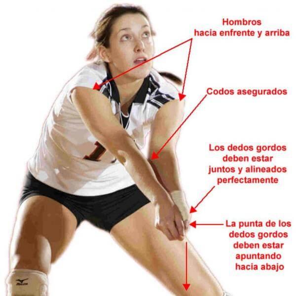 como recepcionar voleibol