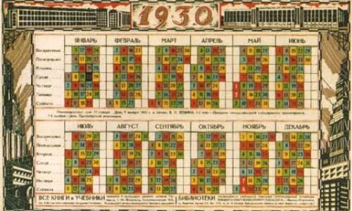 calendario soviéticos de 1930