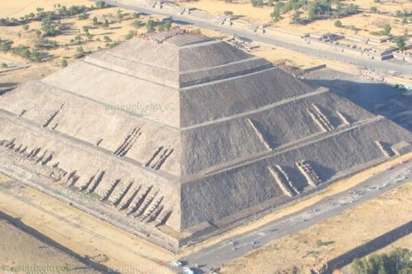 piramide del sol teotihuacan altura