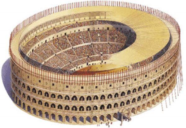 dibujo del coliseo de Roma