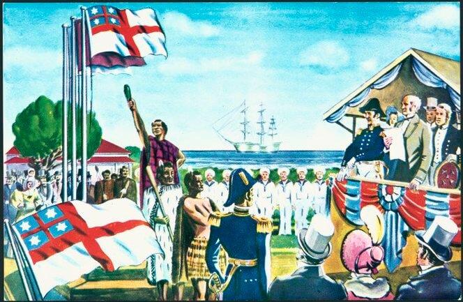 proceso de colonización de Nueva Zelanda