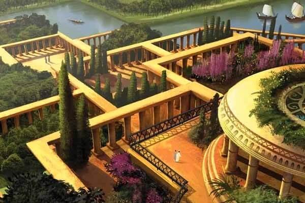 quién construyó jardines colgantes de Babilonia