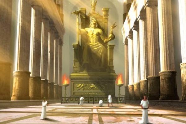 quién construyó la estatua de Zeus