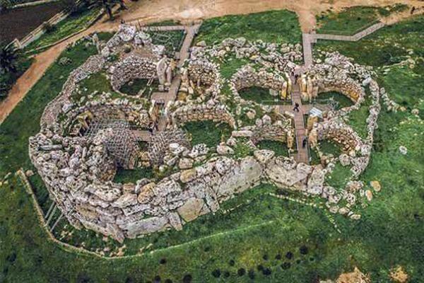 cuándo se construyeron los templos de Malta