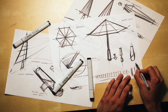 evolución del paraguas o sombrilla