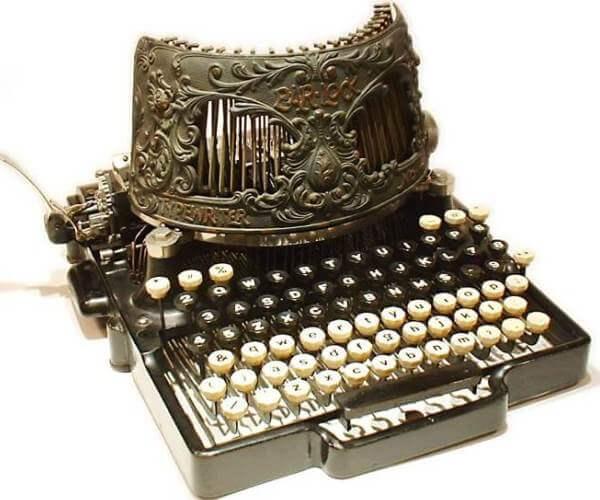 en qué país se inventó la máquina de escribir