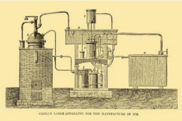 primer sistema de refrigeración de la historia