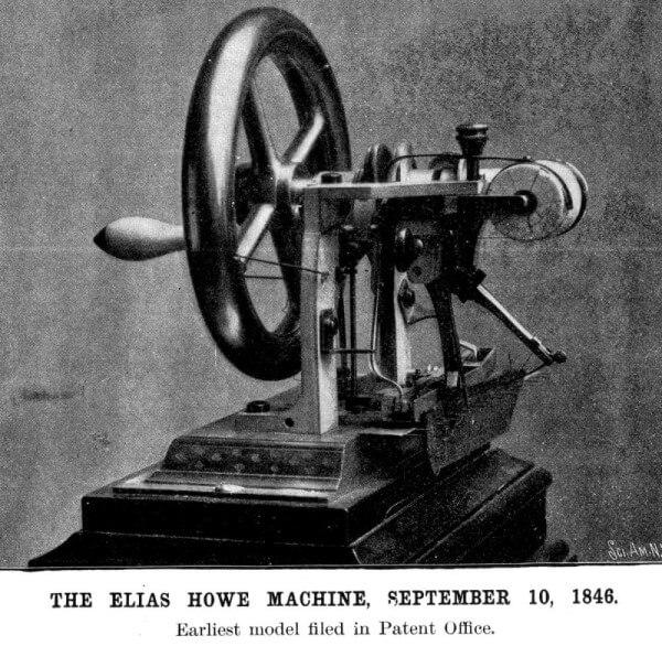 origen de la máquina de coser moderna