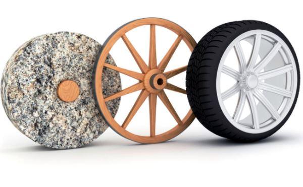 cuál es la evolución de la rueda