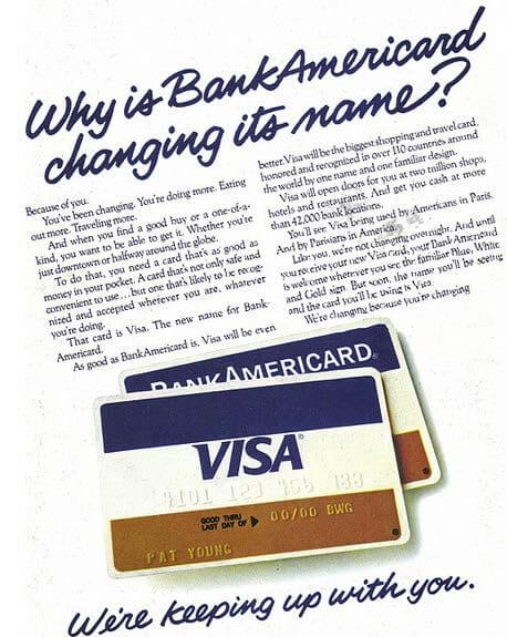 primera tarjeta de crédito visa