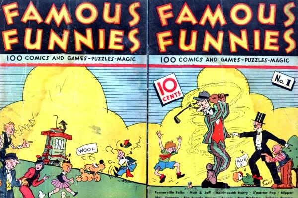 cómo era el primer cómic