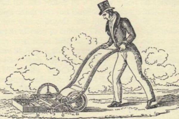 historia cortacésped de gasolina