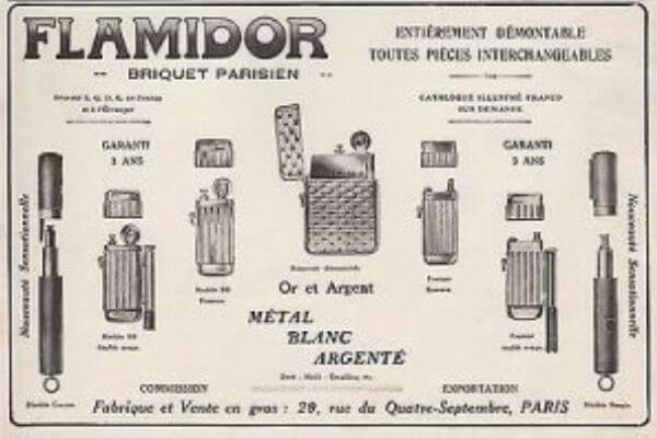 evolución del encendedor