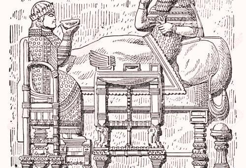 Historia de la silla en Asiria