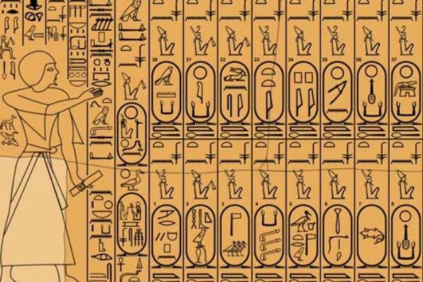 historia escritura egipcia