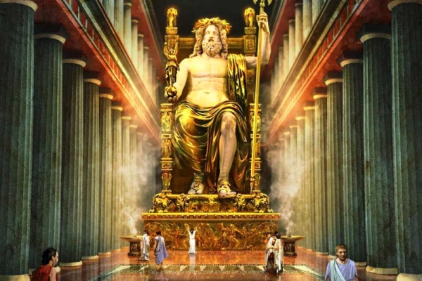 origen estatua de Zeus