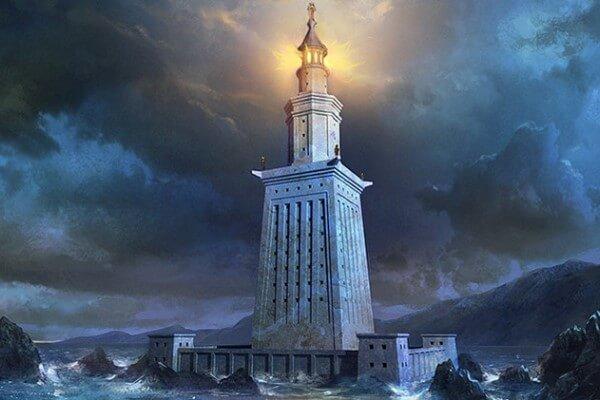 quién construyó el Faro de Alejandría