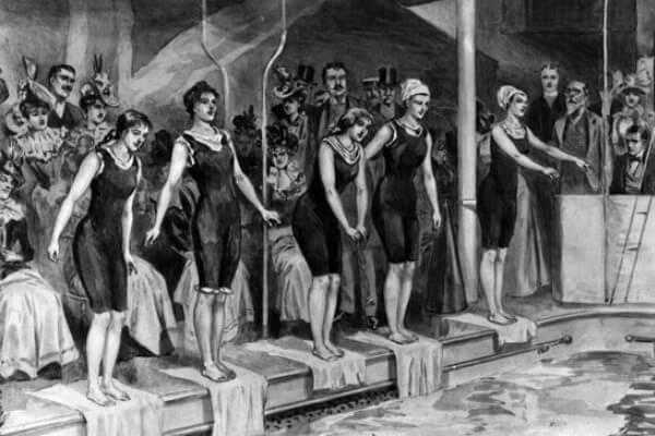 cuándo nació la natación como deporte